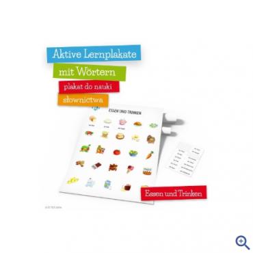Plakat Aktive Lernplakate mit Wörtern - Essen und Trinken