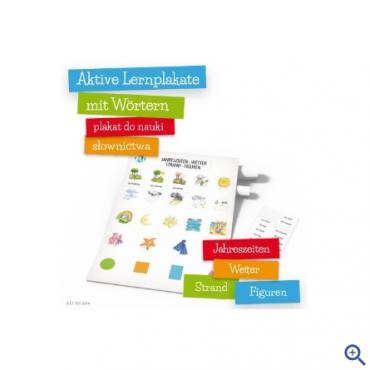 Plakat Aktive Lernplakate mit Wörtern - Jahreszeiten