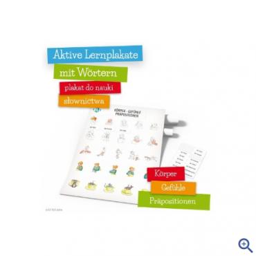 Plakat Aktive Lernplakate mit Wörtern - Körper - Gefühle