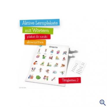 Plakat Aktive Lernplakate mit Wörtern - Tätigkeiten 2