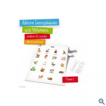 Plakat Aktive Lernplakate mit Wörtern - Tiere 1