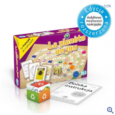 La planète en jeu - gra językowa z polską instrukcją i suplementem