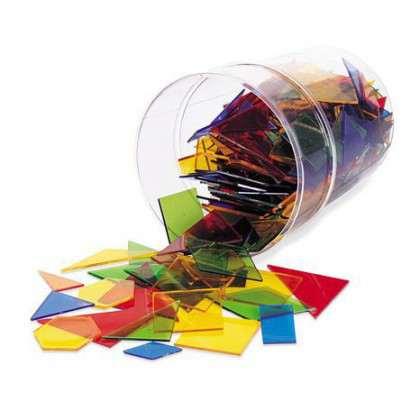 zestaw figur który pozwala uczniom na porównywanie kształtów, kątów, pola oraz długości boków każdej z figur