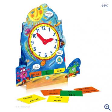 L'horloge - nauka czasu zegarowego i daty - język francuski