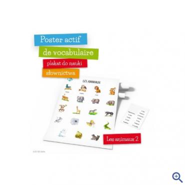 Poster actif de vocabulaire - Les animaux 2