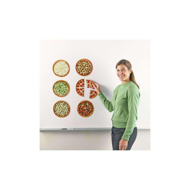 zestaw tablicowy do ułamków w formie pizzy