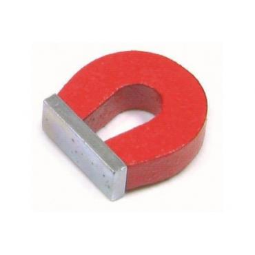 Magnes podkowiasty pomalowany na czerwono z uchwytem DO NAUKI DLA DZIECI