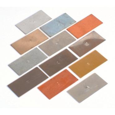 Zestaw płytek metali - rodzaje