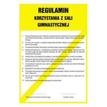 Regulamin korzystania z sali gimnastycznej