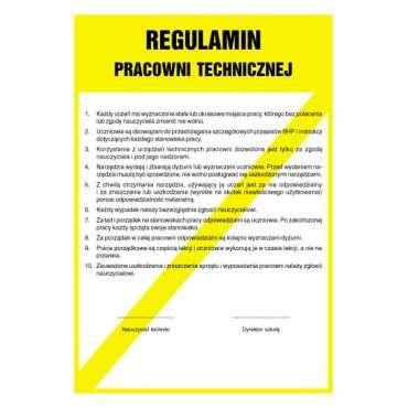 Regulamin pracowni technicznej
