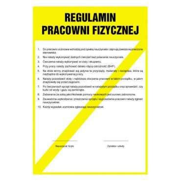 Regulamin pracowni fizycznej