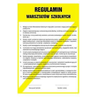 Regulamin warsztatów szkolnych