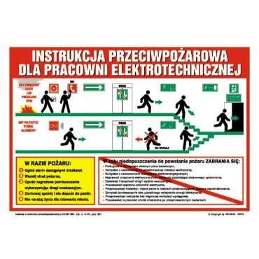 Instrukcja przeciwpożarowa dla pracowni elektrotechnicznej