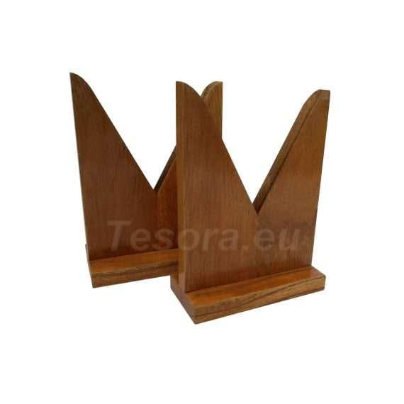 Drewniany stojak do soczewek