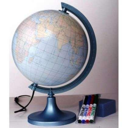 Globus konturowy z objaśnieniem + podświetlenie - 250mm