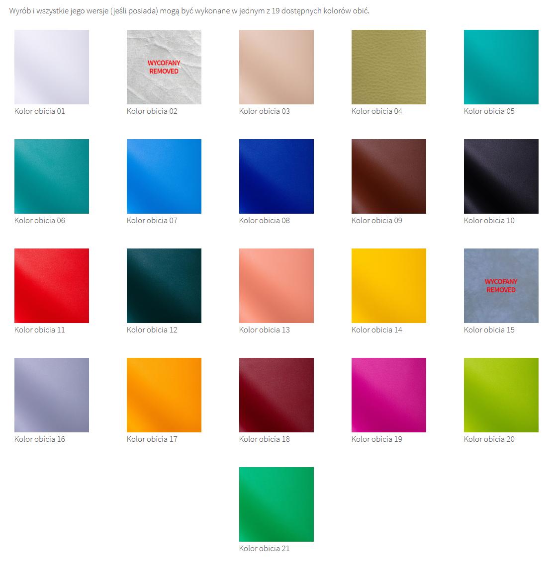 kolory obić taboretów